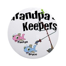 Grandpas Keepers fishing T-shirts a Round Ornament