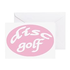 One for the ladiesDiscGolf Greeting Card