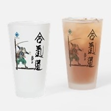 Peaceful Warrior and Aikido Caligra Drinking Glass