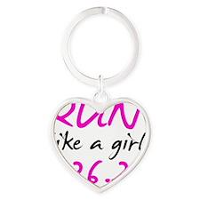 runlikeagirl26 Heart Keychain