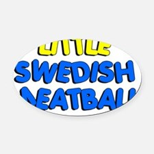 Little Swedish Meatball Oval Car Magnet