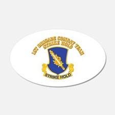 DUI - 1st Brigade Combat Team With Text Wall Decal