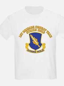 DUI - 1st Brigade Combat Team With Text T-Shirt