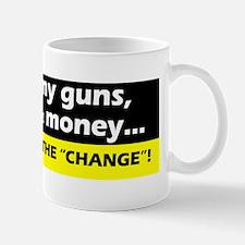 3-black yellow keep guns freedom money Mug