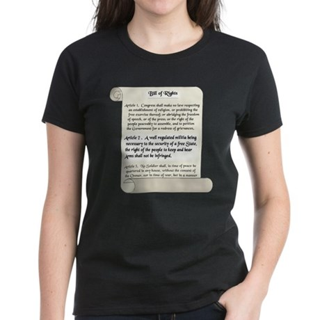 Bill of Rights Women's Dark T-Shirt