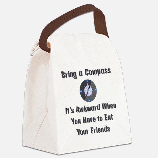 compass Canvas Lunch Bag