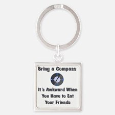 compass Square Keychain