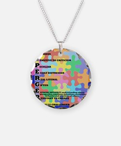 ASPERGERS 2010  2 Necklace Circle Charm