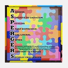 ASPERGERS 2010  2 Tile Coaster