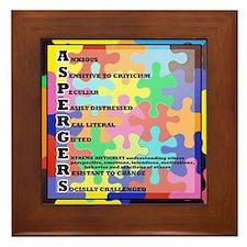 ASPERGERS 2010  2 Framed Tile