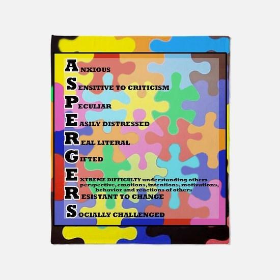 ASPERGERS 2010  2 Throw Blanket