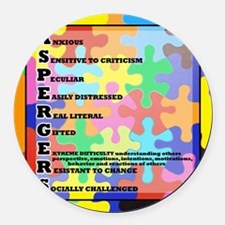 ASPERGERS 2010  2 Round Car Magnet