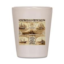 WW I circa 1908 navy Shot Glass