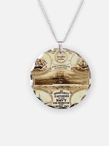 WW I circa 1908 navy Necklace