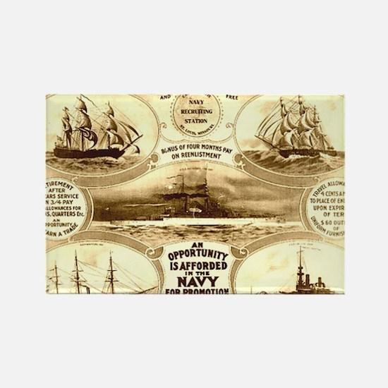 WW I circa 1908 navy Rectangle Magnet