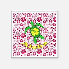 "AlohahawaiiTurtleBbt Square Sticker 3"" x 3"""