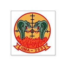 "HMA-269 Square Sticker 3"" x 3"""