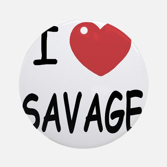 SAVAGE01 Round Ornament