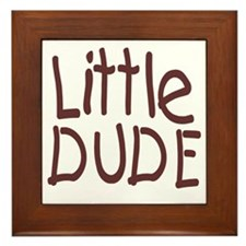 Little dude browm Framed Tile