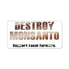 destroy_monsanto_white Aluminum License Plate