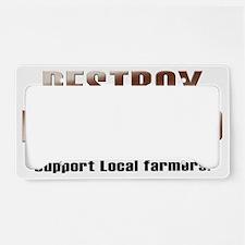 destroy_monsanto_white License Plate Holder