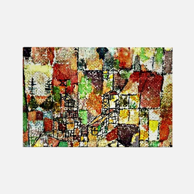 Paul Klee: Two Country Houses Rectangle Magnet