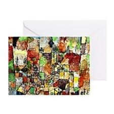 Paul Klee: Two Country Houses Greeting Card