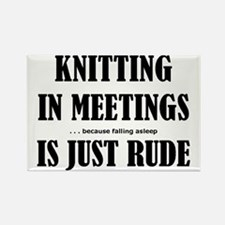 Knitting in Meetings 3001 Rectangle Magnet
