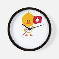 SoccerSwissChickDkT Wall Clock