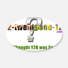 Y2K design Oval Car Magnet