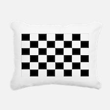checkered flag 2 Rectangular Canvas Pillow