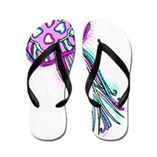 jelly pink stared Flip Flops