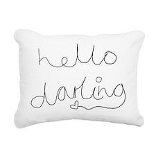 hello Rectangular Canvas Pillow