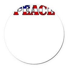 peace b52 dark Round Car Magnet