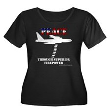 peace b5 Women's Plus Size Dark Scoop Neck T-Shirt