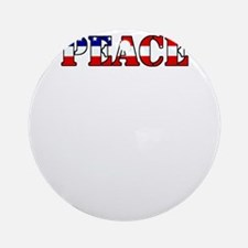 peace b52 dark Round Ornament