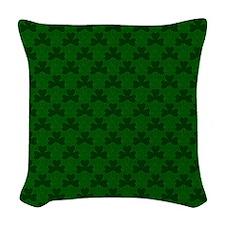Shamrocks Woven Throw Pillow
