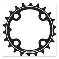 "ChainRing Square Car Magnet 3"" x 3"""