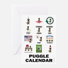 FIN-puggle-VERTCAL-cover Greeting Card