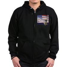 FIN-puggle-patriotic2-CROP Zip Hoodie