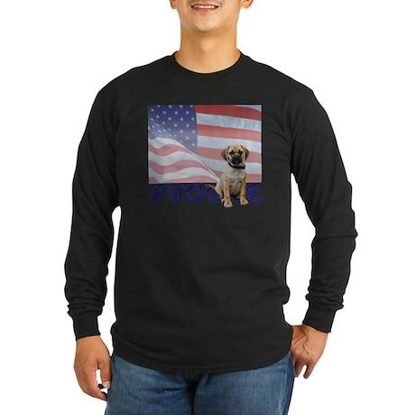 FIN-puggle-patriotic2-CRO Long Sleeve Dark T-Shirt