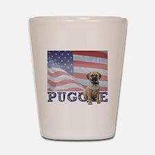 FIN-puggle-patriotic2-CROP Shot Glass