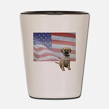 FIN-puggle-patriotic2-WonB Shot Glass