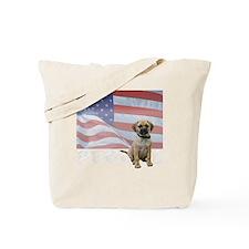 FIN-puggle-patriotic2-WonB Tote Bag