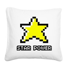 Star-Power Square Canvas Pillow