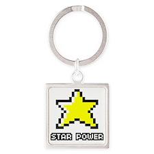 Star-Power Square Keychain