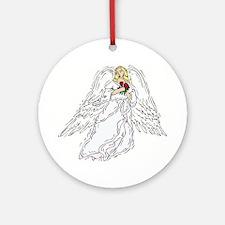 Angelic Angel Blonde Ornament (Round)