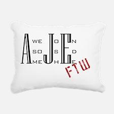 AJE logo copy Rectangular Canvas Pillow