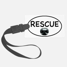 Rescue nose oval-white Luggage Tag