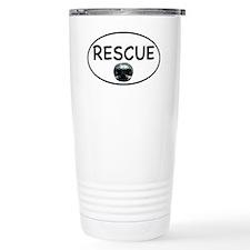 Rescue nose oval-white Travel Mug